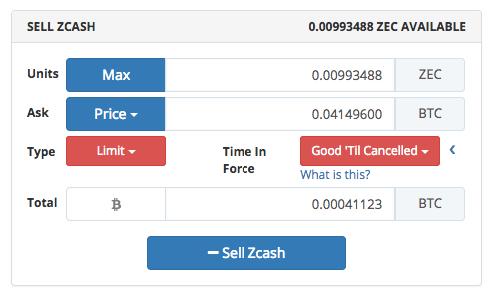 Продаем zcash