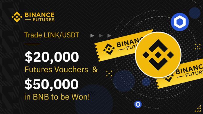 Торгуйте LINK/USDT на фьючерсах Binance, чтобы выиграть 50 000 $ США в BNB