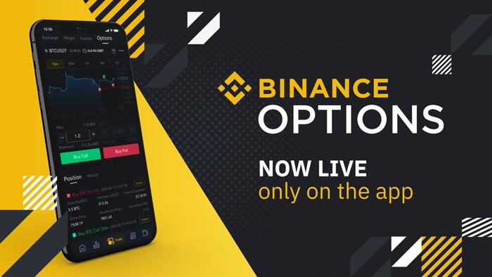 Binance запускает торговлю опционами на мобильном приложении