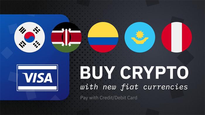 Visa: Жители пяти стран теперь могут покупать криптовалюту за свою национальную валюту