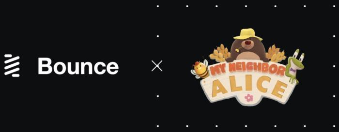 Bounce объявил о партнерстве с My Neighbor Alice