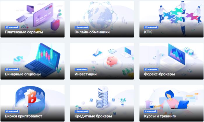 Категории субъектов финансового рынка на Invest Otzyvy