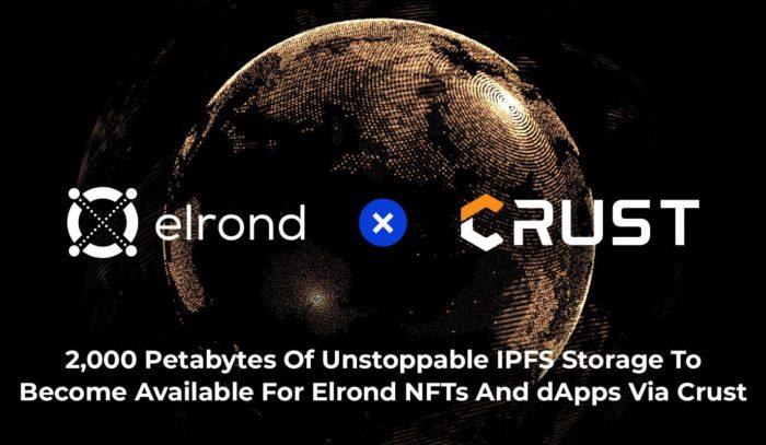 Elrond Network объявила о сотрудничестве с Crust Network